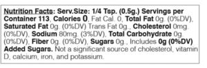 chili lime nutritional facts