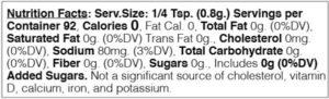lemon herb nutritional facts