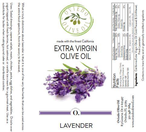 levender infused olive oil, oviedo olive oil