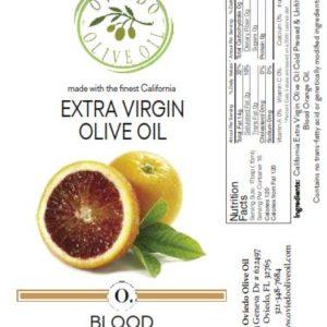 blood orange olive oil, blood orange flavored oil