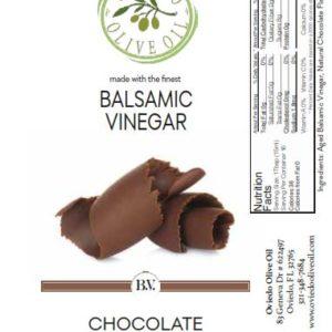 choclate infused balsamic vinegar, chocolate balsamic vinegar