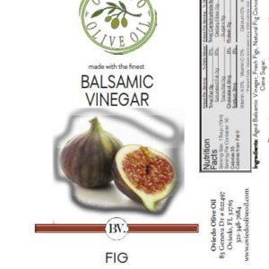 fig balsamic vinegar, infused balsamic vinegar, oviedo olive oil vinegar