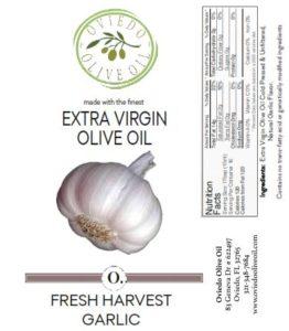 fresh harvet garlic olive oil, oviedo olive oil