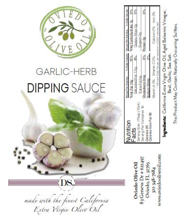 garlic herb dipping sauce, dipping oils, oviedo olive oils
