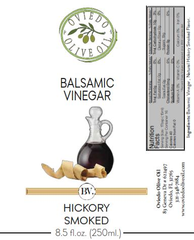 hickory smoked vinegar, smoked balsamic vinegar, hickory infused balsamic vinegar, oviedo olive oil