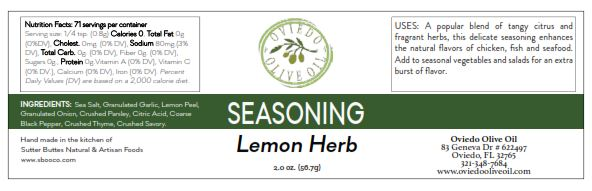 lemon herb seasoning, oviedo olive oil seasonings, oviedo olive oil, seasonings and rubs