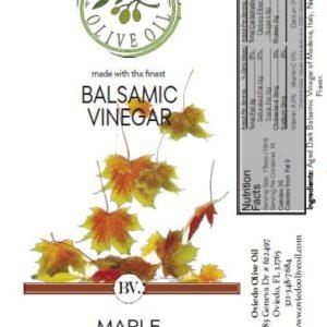 maple balsamic vinegar, oviedo olive oil vinegar, oviedo olive oil