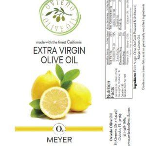 meyer lemon olive oil, olive oil, infused olive oil, oviedo olive oil