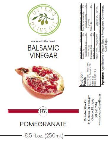 pomegranate balsamic vinegar, oviedo olive oil vinegar