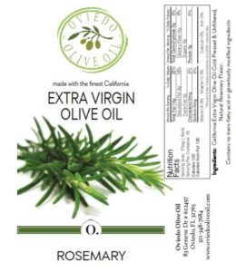 rosemary infused olive oil, oviedo olive oil, roasemary flavored oil