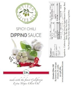 spicy chili dipping oil, spicy chili dipping sauce, oviedo olive oil, oviedo olive oil sauces