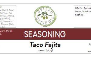 fajita taco seasoning, seasoning, rubs, spices, oviedo olive oil spices