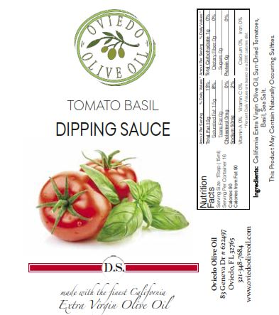 tomato basil dipping sauce, oviedo olive oil dipping sauce, flavored dipping oils