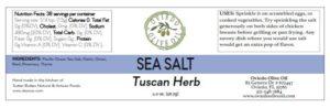 tuscan herb sea salt, Oviedo Olive Oil sea salts