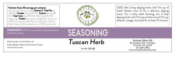 tuscan herb dipping, tuscan herb seasoning, oviedo olive oil seasonings, oviedo olive oil salts